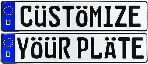 Custom German License Plate (Custom Plate)
