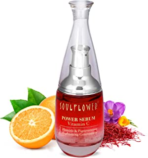 Soulflower Herbal Vitamin C 20% Power Serum For Visibly Lightening Blemishes, Made with Natural Extracts and Essential Oil...