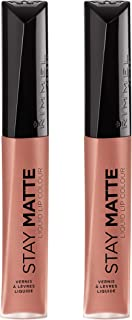 Rimmel Stay Matte Liquid Lip Color, Moca, 2 Count