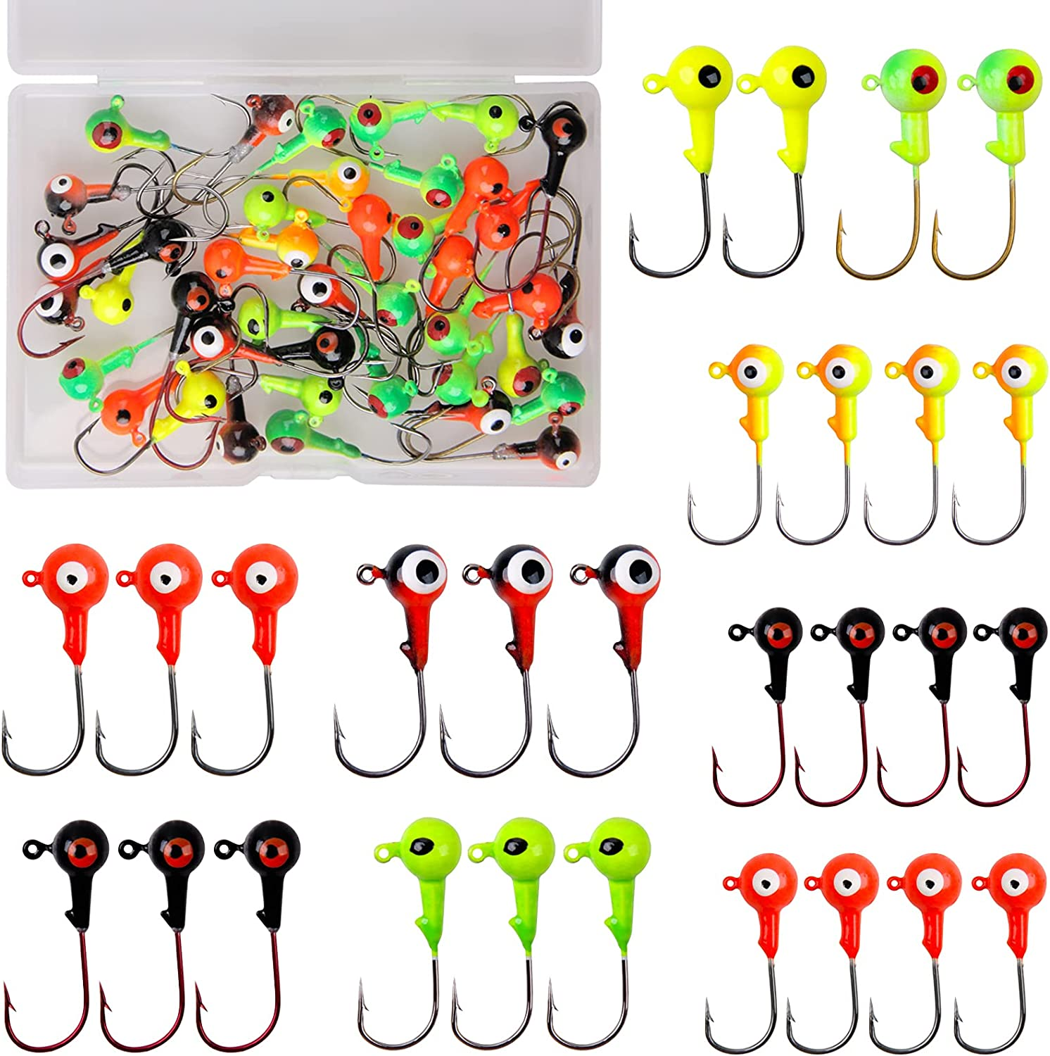 Fishing Jig Heads Saltwater Round Rare Painted Ball OFFer Crappie