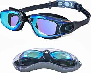 Swimming Goggles for Men Women Adults - Anti Fog Swim Goggles with Uv Protection, Clear Vision, No Leaking Silicone Cushion