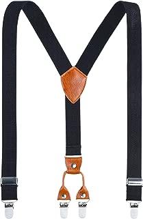 Kids Child Men Boy Suspenders - Adjustable Elastic Solid...