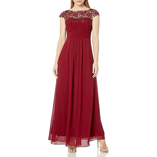 Burgundy Evening Gown: Amazon.com