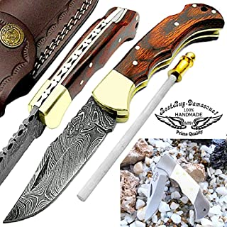 Best american made damascus pocket knife Reviews