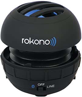 Rokono BASS+ G10 Mini Bluetooth Speaker for iPhone, iPad, iPod, MP3 Player, Laptop - Black