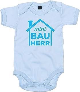 shirtdepartment Shirtdepartment - Baby Body - Mini Bauherr blau-cyan 62-68