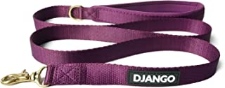 DJANGO Adventure Dog Leash – Strong, Comfortable, and Stylish Dog Leash with Solid Brass Hardware and Padded Handle - Desi...
