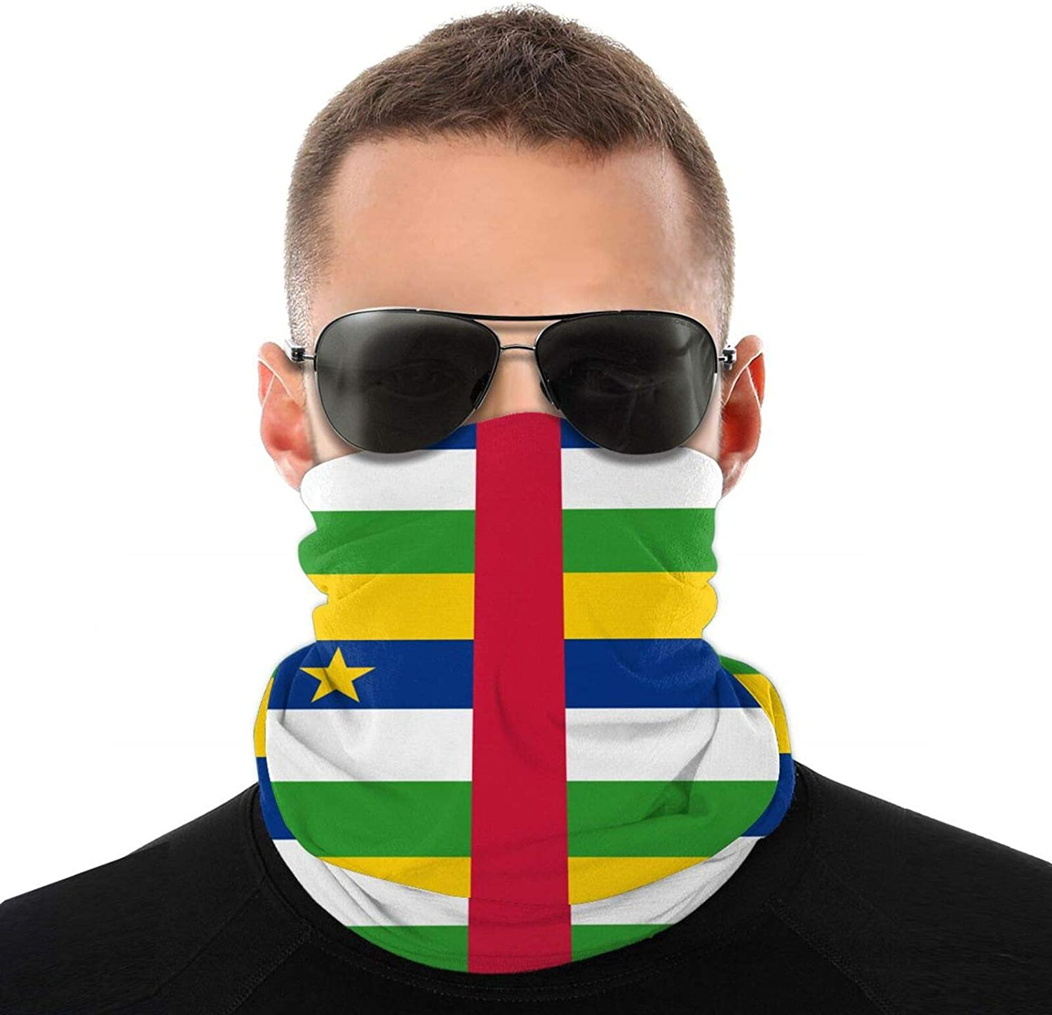 Double-Sided Cool Neck Gaiter Mask for Adult Flag of The Central African Republic Full Face Covering Balaclava White