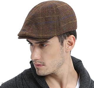 VOBOOM Mens Winter Wool Blend Newsboy Cap Warm Flat Ivy Driving Cap 4cabc78816c8