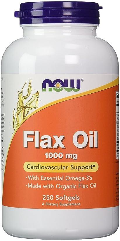 不潔ディスク永久NOW Foods 【大容量】フラックスオイル(亜麻仁) 1000mg 250粒 Flax Oil 1000mg [並行輸入品]