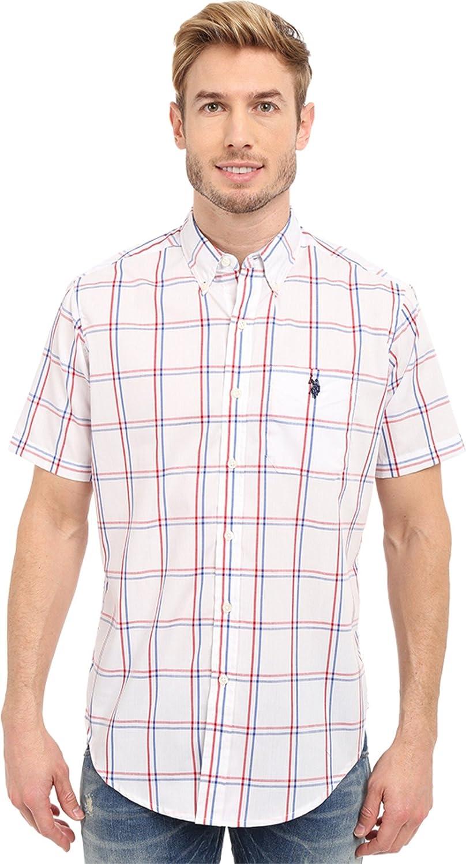 U.S. Polo Assn. Men's Button Down Poplin Plaid Sport Shirt