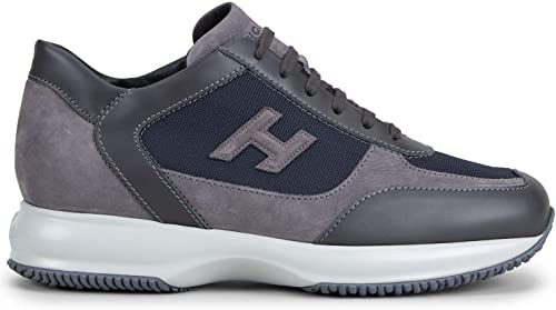 Hogan - Hausschuhe Interactive Blau y grau de Nabuck - HXM00N0I980LIE783Z