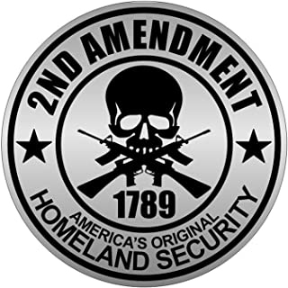 1 Set Heart stopping Unique 2nd Amendment 1789 America's Original Homeland Security Car Stickers Sign Neighbor Warning Signs Video Hr Surveillance Window Vinyl Sticker Size 2