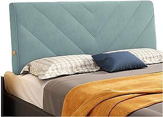 Respaldo Grande Almohada, Dormitorio Suave de Gran Tamaño Cama Matrimonial Leer Almohada Alta Elasticidad Esponja Relleno Anti Choques, 7 Tamaños, Personalizable ( Color : Blue , Size : 90cm )