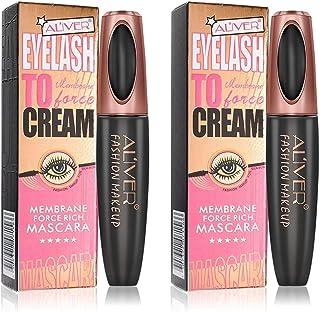Mascara Black, Eyelash Mascara,Extra Long Lash Mascara,4D Silk Fiber Lash Mascara Long-Lasting (C)