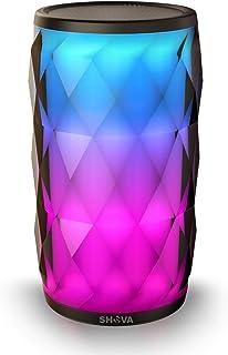 Night Light Bluetooth Speaker, SHAVA Jewel Portable Wireless Bluetooth Speaker Touch Control RGB Speaker 6 Color LED Theme...