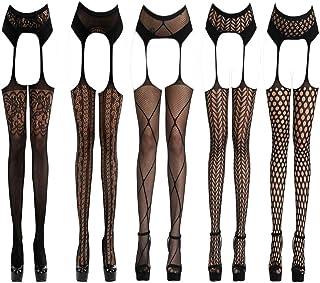 KHUFUZI Women Sexy Lingerie Babydoll Stretch Stockings Net Sleepwear Party Club Dress Gift for Girlfriend
