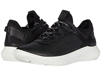 ECCO ST.1 Lite Sneaker (Black/Black Cow Leather/Textile) Women