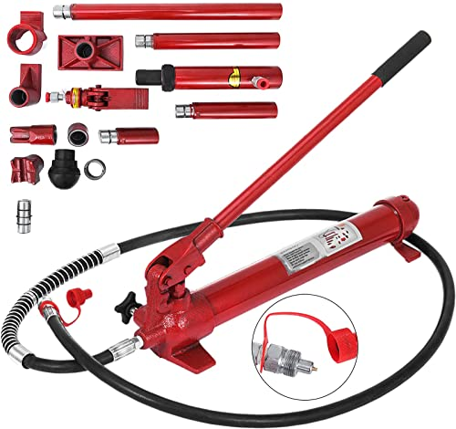discount Mophorn 10 Ton Porta Power Kit 2M (78.7 inch) Oil Hose Hydraulic Car Jack Ram new arrival Autobody Frame Repair Power Tools online sale for Loadhandler Truck Bed Unloader Farm and Hydraulic Equipment Construction online sale