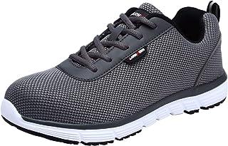 LARNMERN Chaussure de Securite Homme Legere,S1/SBP SRC Baskets de Sécurité Embout Acier Chaussure de Travail