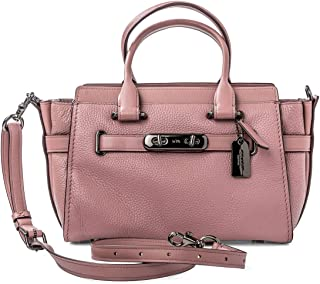 Coach Handbag Bag Leather Swagger 27 dusty rose #87295 Pink New