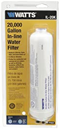 Watts Inline Water Filter 20,000 gallon Capacity- Inline Filter for refrigerator, Ice Maker, Under Sink, and Reduces ...
