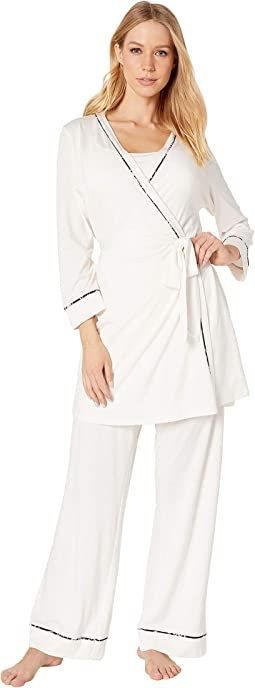Bella Maternity Three-Piece PJ Set