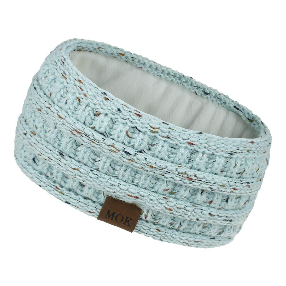 FAMKIT Warm Headband Knit Fleece Lined Winter Ear Warmer Headband