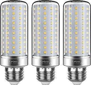 Tebio LED Plata Maíz Bombillas 25W E27 3000K Blanco Cálido LED Candelabros bombillas, 200W Bombilla Incandescente Equivale...