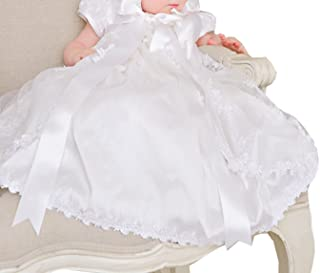 deine-Brautmode Baptism Jacket Christening Bolero Jacket Baby Girl White