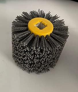Abrasive Wire Drawing Wheel Drum Burnishing Brush for wooden polishing 5 inch 60 80 120 180 240 320 400 600 Grit 1 pack (60# black)