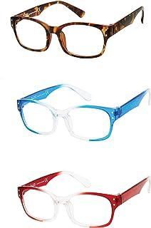 Nanette Nanette Lepore Women's NNNX116 Vintage-Looking Rectangular Reading Glasses - Boxed Set of 3