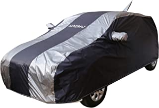 Amazon Brand - Solimo Ford Figo Water Resistant Car Cover (Dark Blue & Silver)
