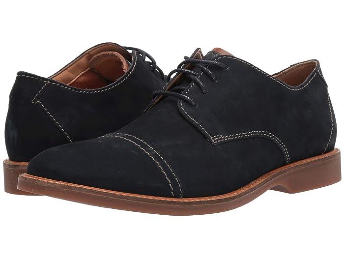 Clarks  Atticus Cap (Navy Nubuck) Mens Shoes