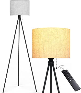 Tripod Floor Lamp, Remote Control Modern Tall Lamp, Mid Century lamp, Standing lamp for Living Room and Bedrooms, Living Room