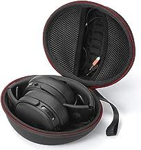 Hard Carrying Case for Skullcandy Crusher, Skullcandy Hesh 3 Bluetooth Wireless Over-Ear Headphones, Travel Carrying Storage Bag - Black (Black Lining)
