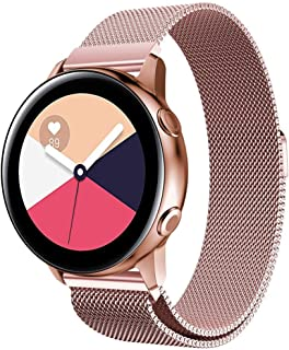 ★Auppova★Galaxy Watch Active Bands, Magnetic Milanese Loop Replacement Strap Bracelet Women Men Compatible for Samsung Galaxy Watch Active