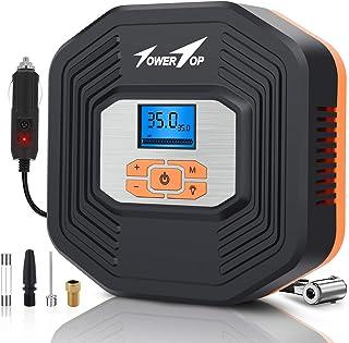 comprar comparacion TowerTop Compresor Aire Portátil, 12V Inflador Digital Coche, Bomba Aire Coche, LCD Pantalla Digital, Auto Examinar Presió...