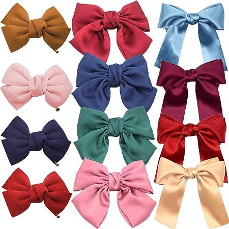 Women Girls 3 Layers Big Bow Knot Hairpins Satin Hair Clip Barrettes Hair Clips