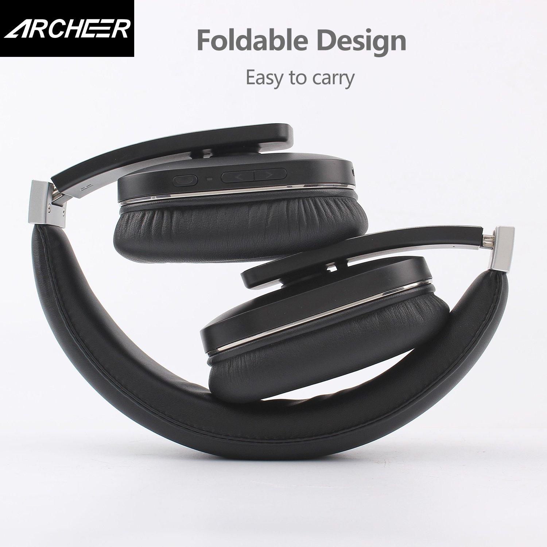 Auriculares Bluetooth, Archeer Bluetooth 4.0 inalámbrico auricular, Auriculares, reducción de ruido estéreo plegable Manos Libres Llamadas de voz auriculares aptX, hasta 14 horas tiempo de reproducción para iPhone, Samsung y más: Amazon.es: