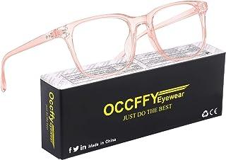Occffy Occhiali Luce Blu con Anti UV Eyestrain Occhiali Anti Luce Blu per PC, Tablet, Gaming e TV Uomo Donna Oc092 (Rosa)