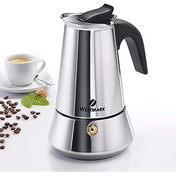 Westmark 24682260 Brasilia Plus - Cafetera italiana (acero inoxidable, 6 tazas): Amazon.es: Hogar