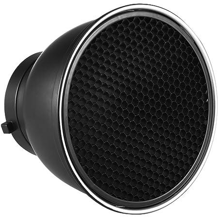 """Andoer 7"""" Reflector Difusor Lámpara Plato con 60° Rejilla de Nido de Abeja Blanco Paño Suave para Montaje de Bowens Estudio Flash Speedlite Luz"""