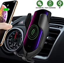 Wireless Car Charger Mount,Automatic Clamping Air Vent Phone Wireless Car Charger Holder,10W/7.5W Qi Fast Car Charging,Compatible with iPhone Xs MAX/XS/XR/X/8/8+, Samsung S10/S10+/S9/S8 (Leaden)