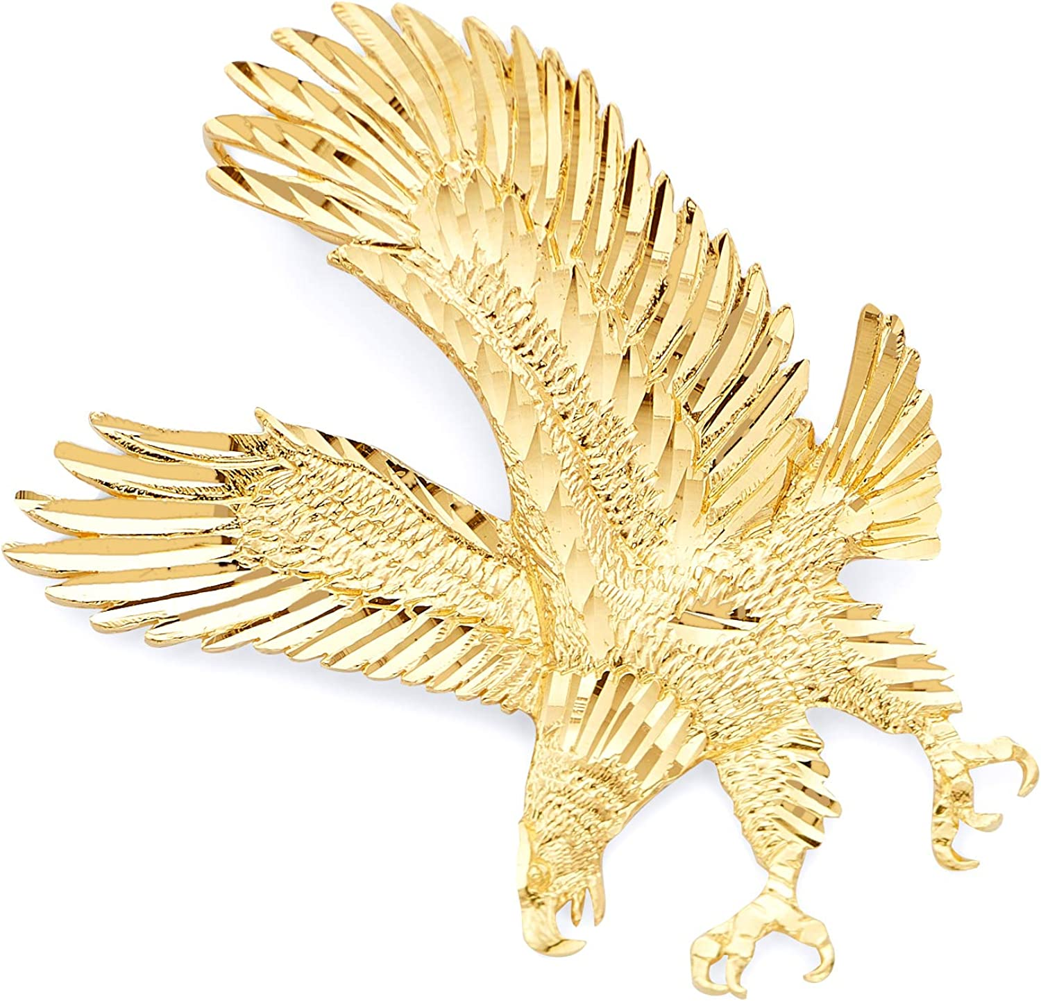 GM Fine Jewelry Collection Max 61% OFF 14k Gold Pendant Yellow Ranking TOP6 Eagle