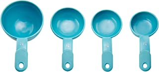 KitchenAid Plastic Measuring Cups, Set of 4, Aqua Sky