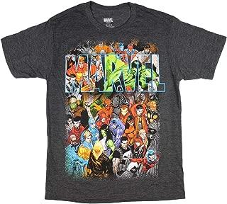 Marvel Comics T Shirt Men's Cartoon Comic Book Universe Characters Tee