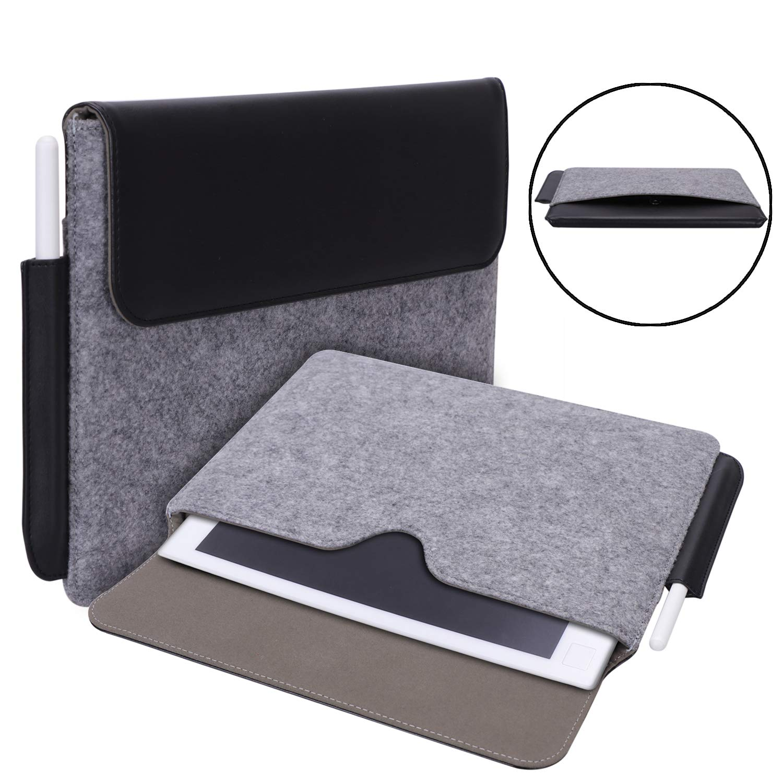 Jasilon著しい紙タブレットケース、高度なレザー保護スマートファイルバッグとペンホルダー付きの驚くべき10.3インチデジタルメモ帳Eリーダー紙タブレット用保護ケース