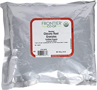 Frontier Natural Products Organic Roasted Chicory Root Granules, 16 Ounce (Pack of 2)