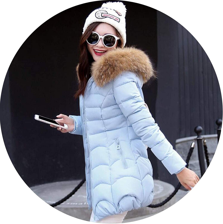 Winter Coat Fur Collar Warm Woman Parka Outerwear Down Jacket Winter Jacket Coat Long Parkas